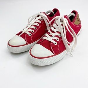 Levi's red converse sneakers